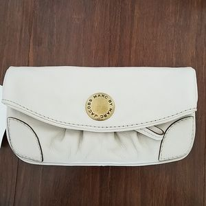 New with Tags Marc Jacobs white leather clutch